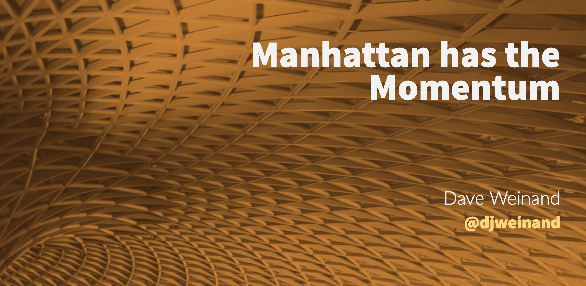 Manhattan has the Momentum, Blog