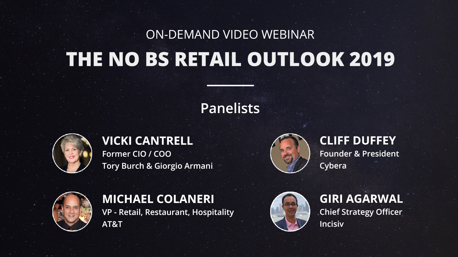 The No BS Retail Outlook 2019, Video Webinar, Incisiv, 31 Jan 2019