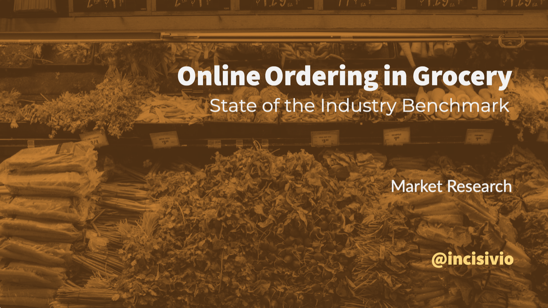 Online Ordering in Grocery